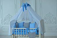 Карман для мелочей на кроватку ТМ Добрый Сон Серо-голубой