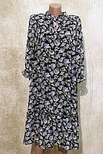 Легкое воздушное шифоновое платье в цветах, с поясом. Легке літнє плаття в квітах, з поясом.