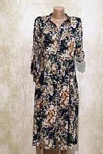 Модное летнее платье-рубашка в цветах. Модне літнє плаття-рубашка у квітах.