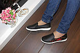 Сліпони жіночі чорні з вишивкою Сакура Т1015, фото 3