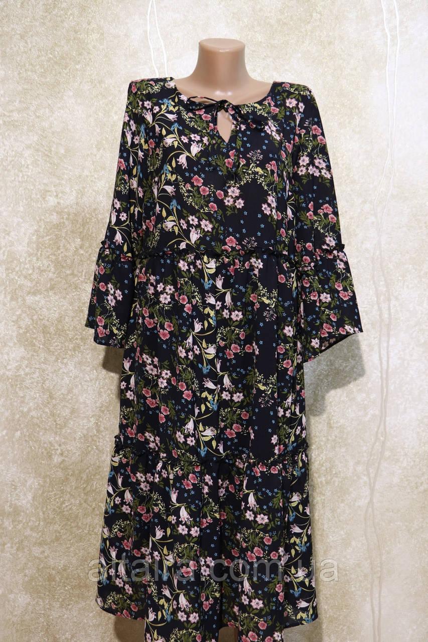 Модне літнє, довга сукня в дрібних кольорах. Модне, літнє, довге плаття