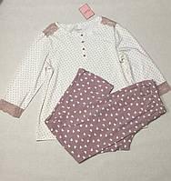 Хлопковая  женская пижама  с брюками 180/001, фото 1
