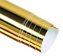Авто плівка CARLIKE золота дзеркальна 40 x 152cm глянсова декоративна відображає