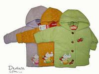 """Куртка велюровая для девочки с капюшоном """"Мышка"""""""