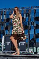 Женское летнее платье цветочный принт