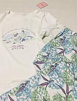 """Пижама хлопковая со штанами """"Гортензии"""", фото 1"""