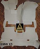 Оригинальные Коврики BMW X5 Е70 из Экокожи 3D (2006-2013) с текстильными накидками БМВ Х5 Е70 Тюнинг, фото 4