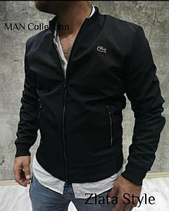 Мужская куртка демисезонная ветровка. Ткань: Плащевка Канада + Рибана. Цвета: черный,темно-синий,хаки,красный.