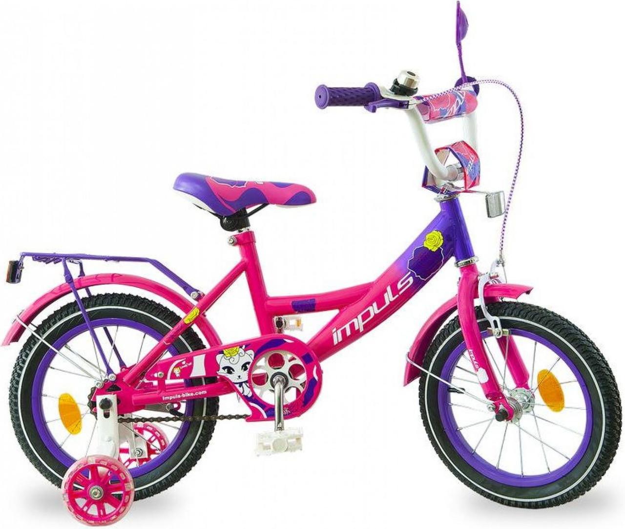 """Детский велосипед Impuls Kitty 16"""" для девочек от 4 до 6 лет"""