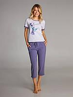 Женская пижама с капрями Ellen 304/001 (Колибри) р.S-3XL