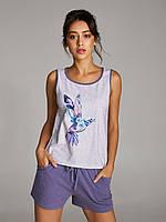 Хлопковая пижама с шортами Ellen 239/002  (Колибри) р.S-XL, фото 1