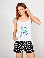 Хлопковая пижама с шортами Ellen 292/001  (Ромашки)
