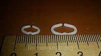 Стопорное кольцо от расклева (канибализма) для перепелов, курапаток  и фазанов (малое)