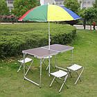 Складной стол + 4 стула в чемодане 120х60 см., фото 8