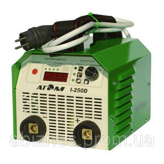 Сварочный инвертор АТОМ I-250D с комплектом сварочных кабелей (вариант F)