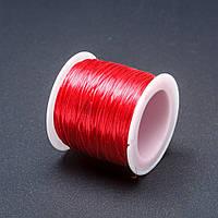 Резинка для рукоделия катушка Красный, длина 50м