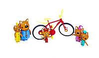 """Набор персонажей мультфильма """"Три кота"""" с велосипедом из серии Счастливая семья scn, фото 2"""