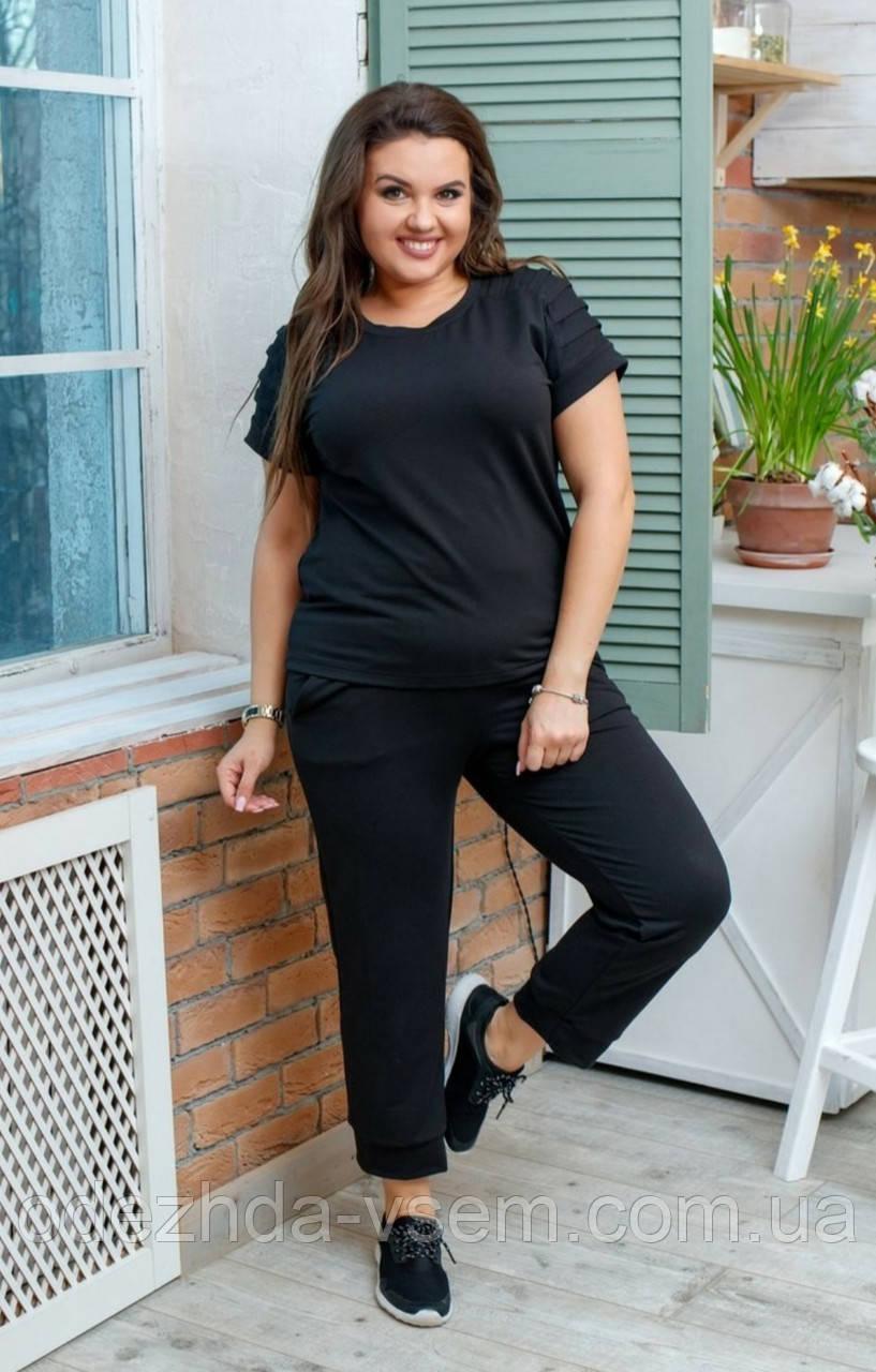 Жіночий чорний костюм двійка