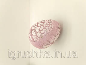Яйцо с динозавром Орбиз (из гидрогеля, растушка) бело-розовое 4,5x6 см (40411), фото 3