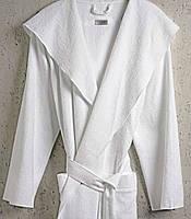 Халат з капюшоном HAMAM MEYZER (PESTEMAL) WHITE розмір L/XL, фото 1