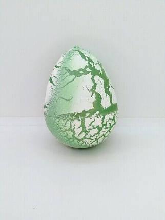 Яйцо с динозавром Орбиз (из гидрогеля, растушка) бело-салатовое 4,5x6 см (40410), фото 2