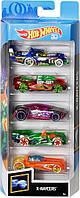 Детский Игровой Набор для мальчиков из 5 коллекционных моделей Машинок Хот Вилс масштаб 1:64 - Hot wheels 5