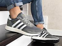 Мужские кроссовки Adidas Iniki Gray, серо-белые кроссовки в стиле Адидас Иники