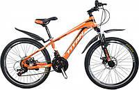 """Горный велосипед с Диск Тормозами, 21 скорость, Вилка с амортизацией 24"""" Evolution Рама-12"""" black-red-silvery"""