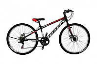 """Горный велосипед с Диск Тормозами, 7 скоростей, Вилка с амортизацией 24"""" Legion Рама-11"""" black-red"""