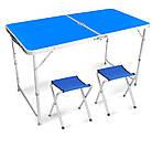 Складной стол + 4 стула в чемодане 120х60 см., фото 5