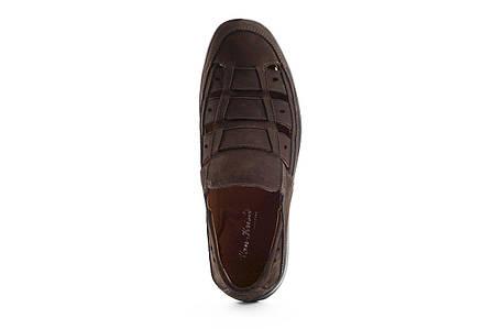 Мужские сандали кожаные летние коричневые Vankristi 1161, фото 2