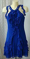 Платье женское легкое нарядное шелк миди бренд Karen Millen р.46 3523