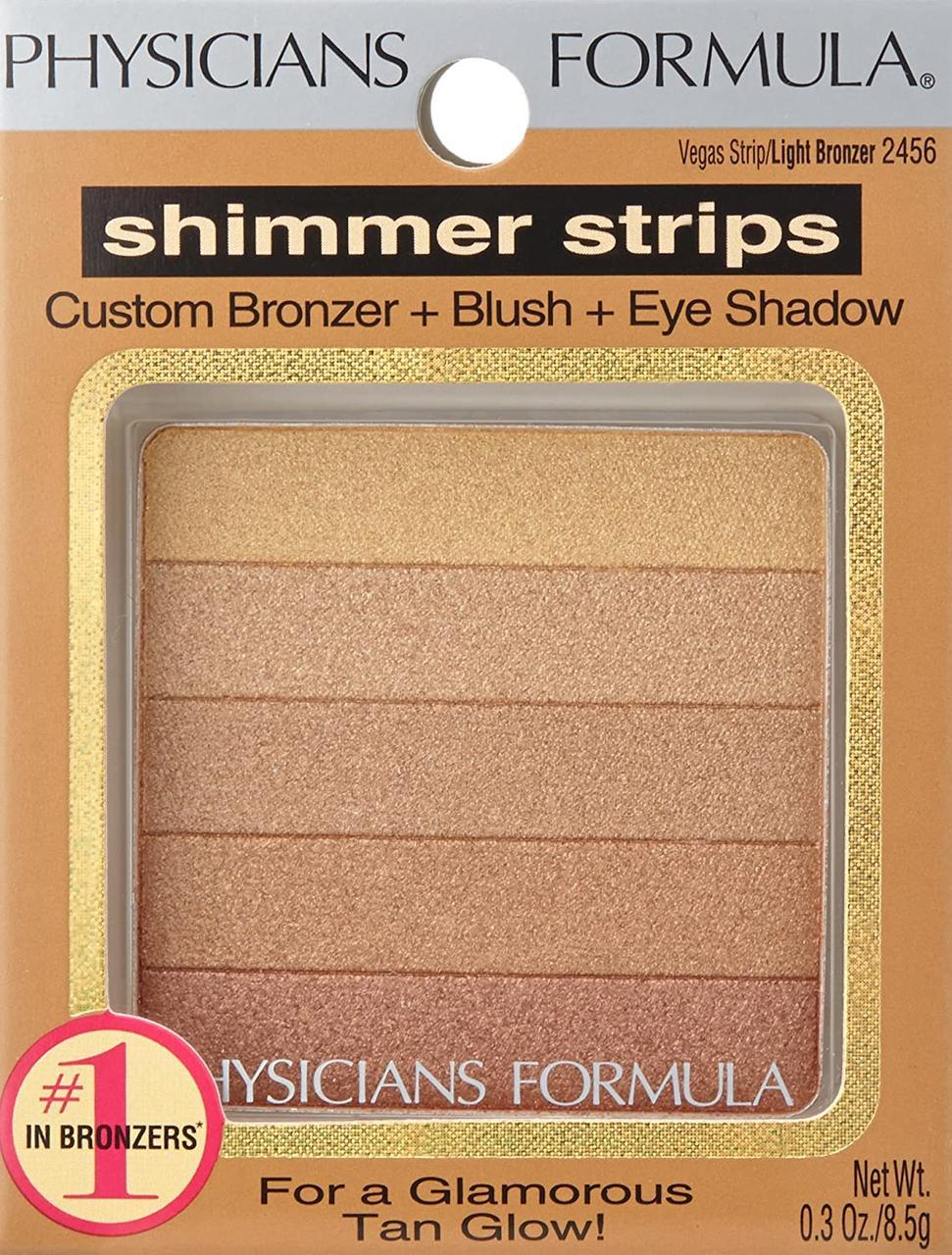 Бронзер-тени Physician's Formula Shimmer Strips Custom Bronzer Blush Vegas Strip Light Bronzer
