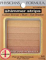 Бронзер-тени Physician's Formula Shimmer Strips Custom Bronzer Blush Vegas Strip Light Bronzer, фото 1