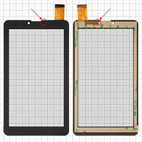 """Сенсорный экран для Bravis NB751 3G; планшетов China, 7"""", 184 мм, 104 мм, 30 pin, тип 1, емкостный, без датчика приближения, черный, #HS1275"""