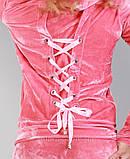 Женский черный спортивный костюм из велюра, купить в розницу, разм XS, S , M, фото 7