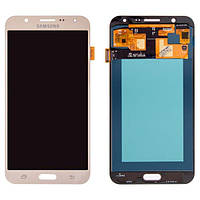 Дисплей для Samsung J700 Galaxy J7, золотистый, с сенсорным экраном, (OLED), High Copy