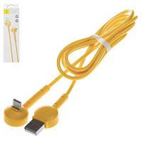 USB-кабели Baseus, USB тип-C, USB тип-A, 100 см, желтый, для зарядки телефона, Г-образный, 2,1 A, #CATQX-0Y