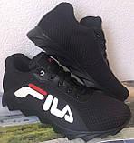 Мужские летние кроссовки сетка легкие Fila 40,41,42,43,44,45, фото 3