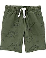 Трикотажные шорты с динозаврами для мальчика Carters 98 см (3Т)