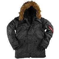 Мужская куртка аляска Alpha Industries N-3B Parka MJN31000C1 (Black), фото 1