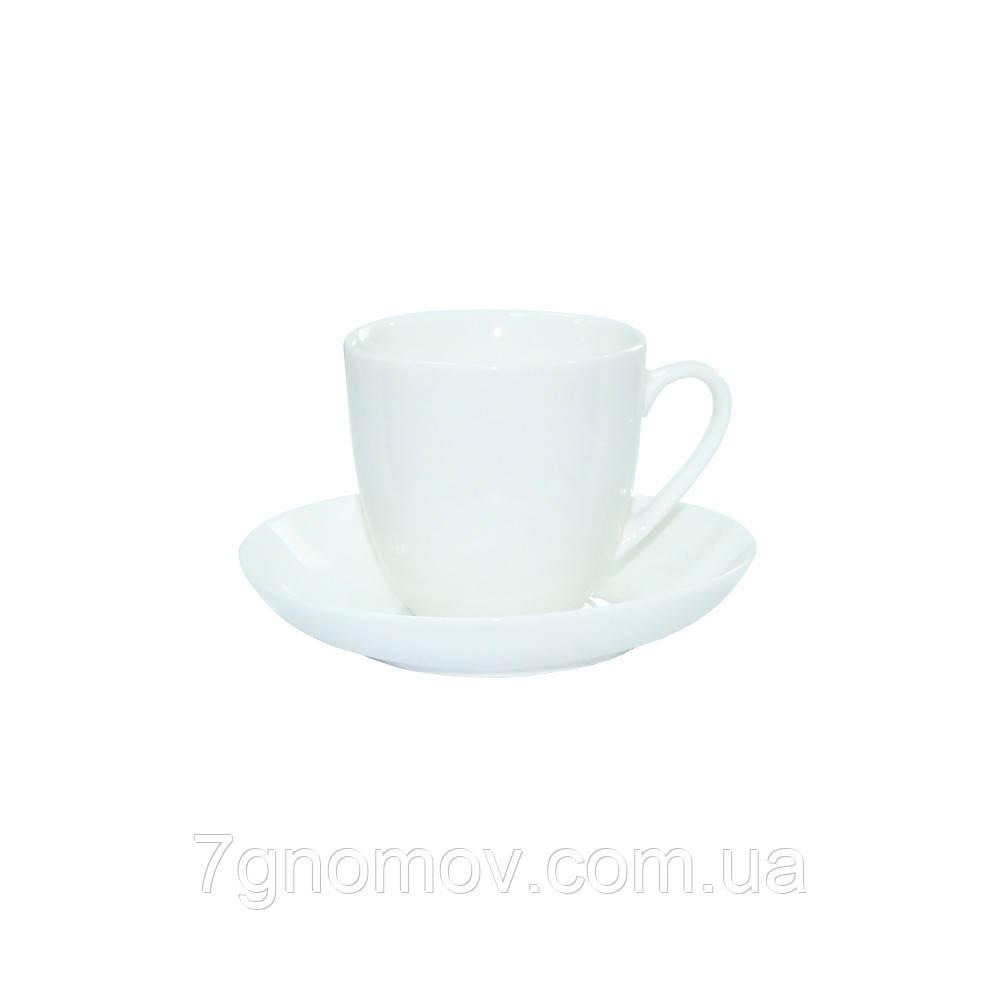 Набор 6 чашек для чая и американо Horeca Bar белый 250 мл (300-22)