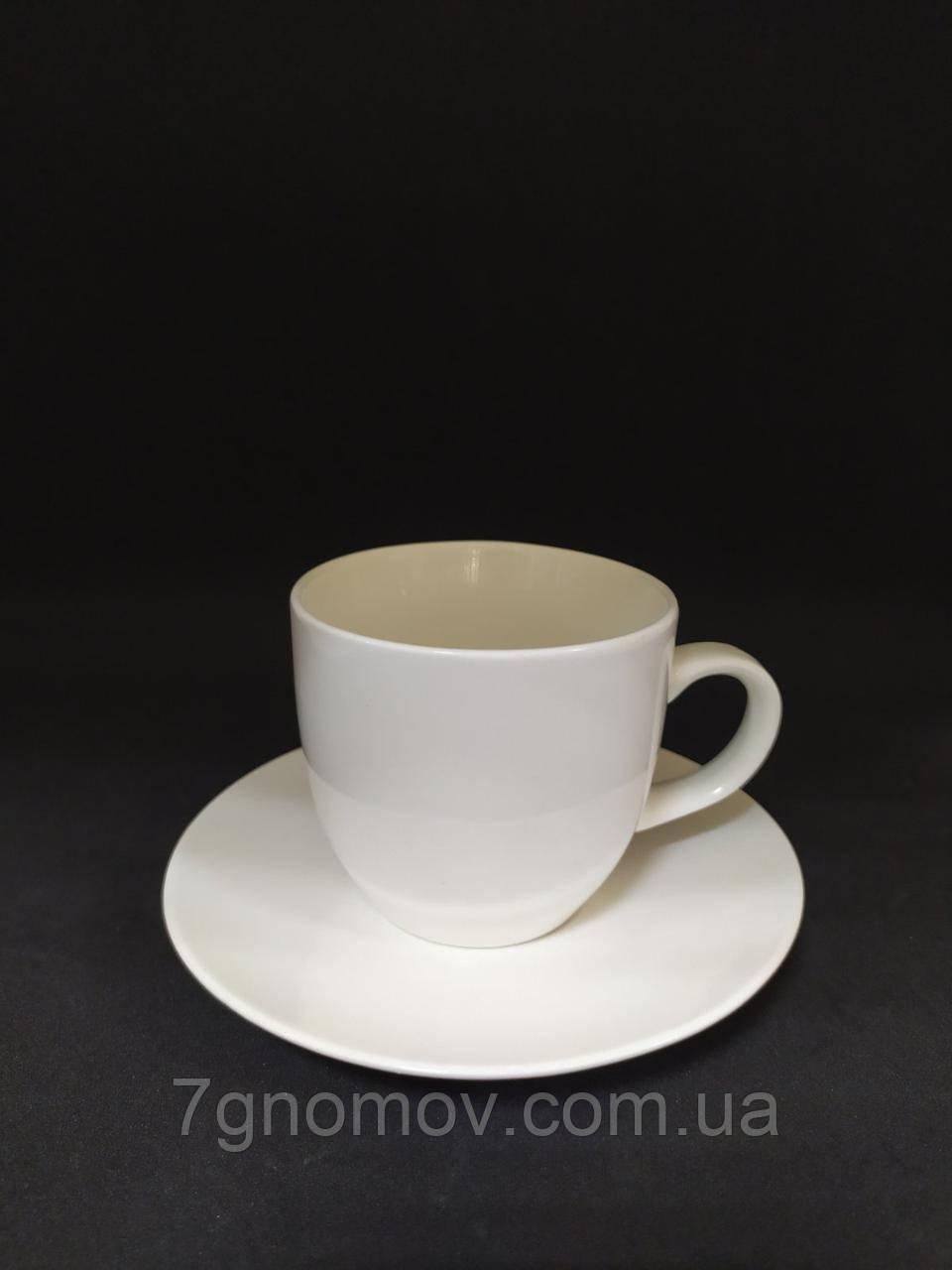 Набір 6 білих чашок для еспресо Horeca Bailey Espresso 150 мл (300-23)