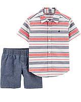 Детский летний комплект - тенниска и шорты Картерс для мальчика 61 см (0-3М)