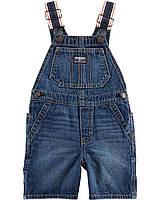Детский джинсовый полукомбинезон ОшКош для мальчика 72 см (9М)