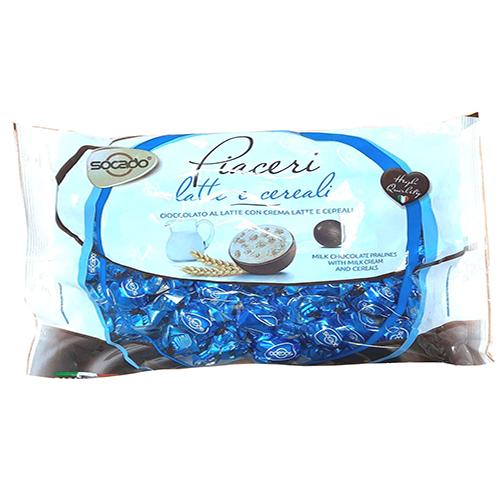 Шоколадные конфеты Молочный крем мюсли PIACERI 1 кг 1/6 шт Сокадо