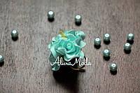 Колечко квіткове Аквамарин з фоамирана