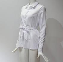 Элегантная блуза туника с поясом, L - XXL, фото 3