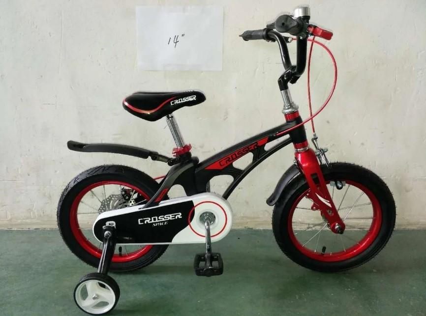 """Детский велосипед Crosser  Space 14"""" черный"""