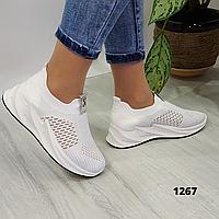Женские летние белые кроссовки на платформе , хит сезона,  ОВ 1267, фото 1